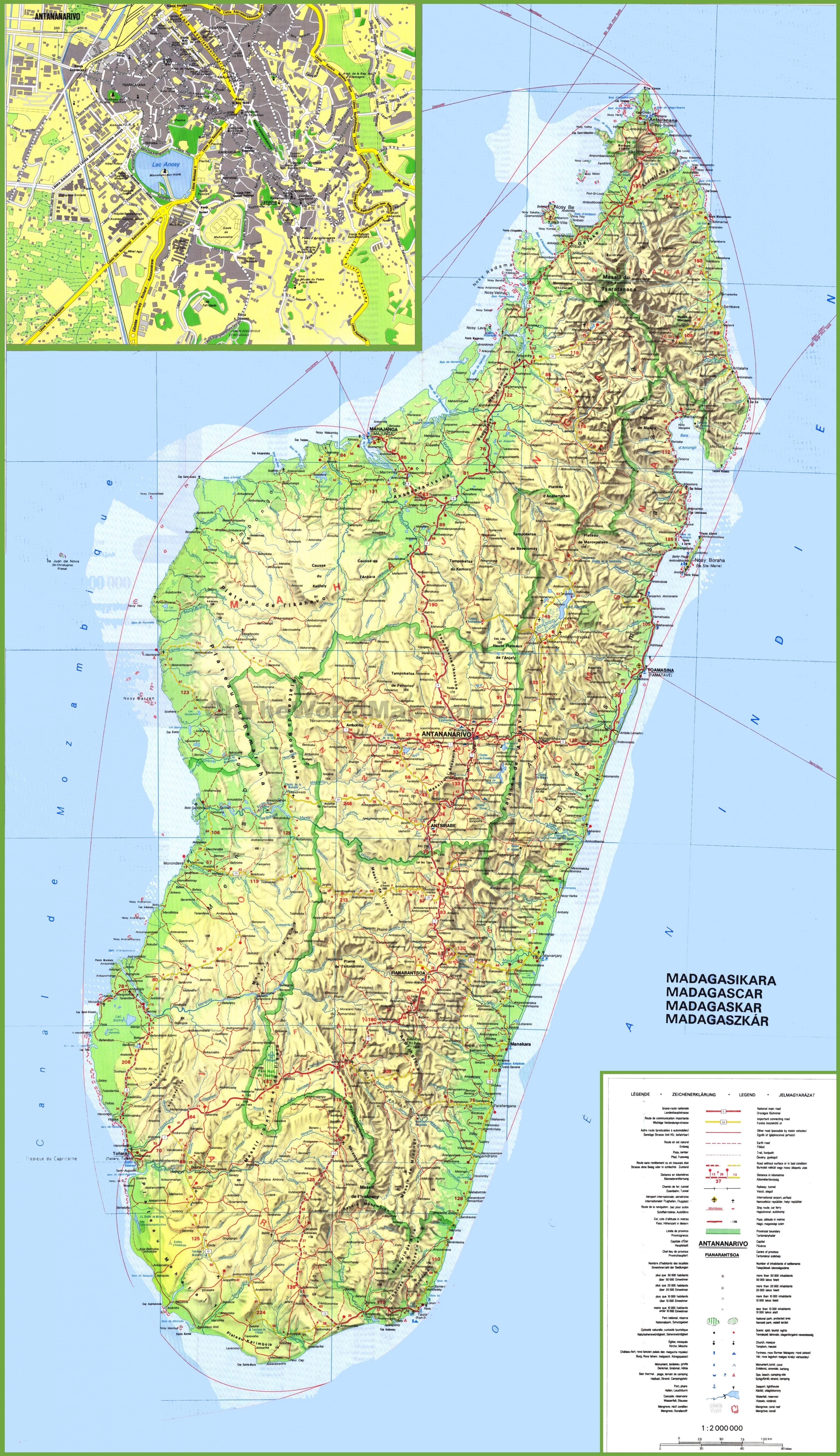 Madagascar Map Map Showing Madagascar Eastern Africa Africa