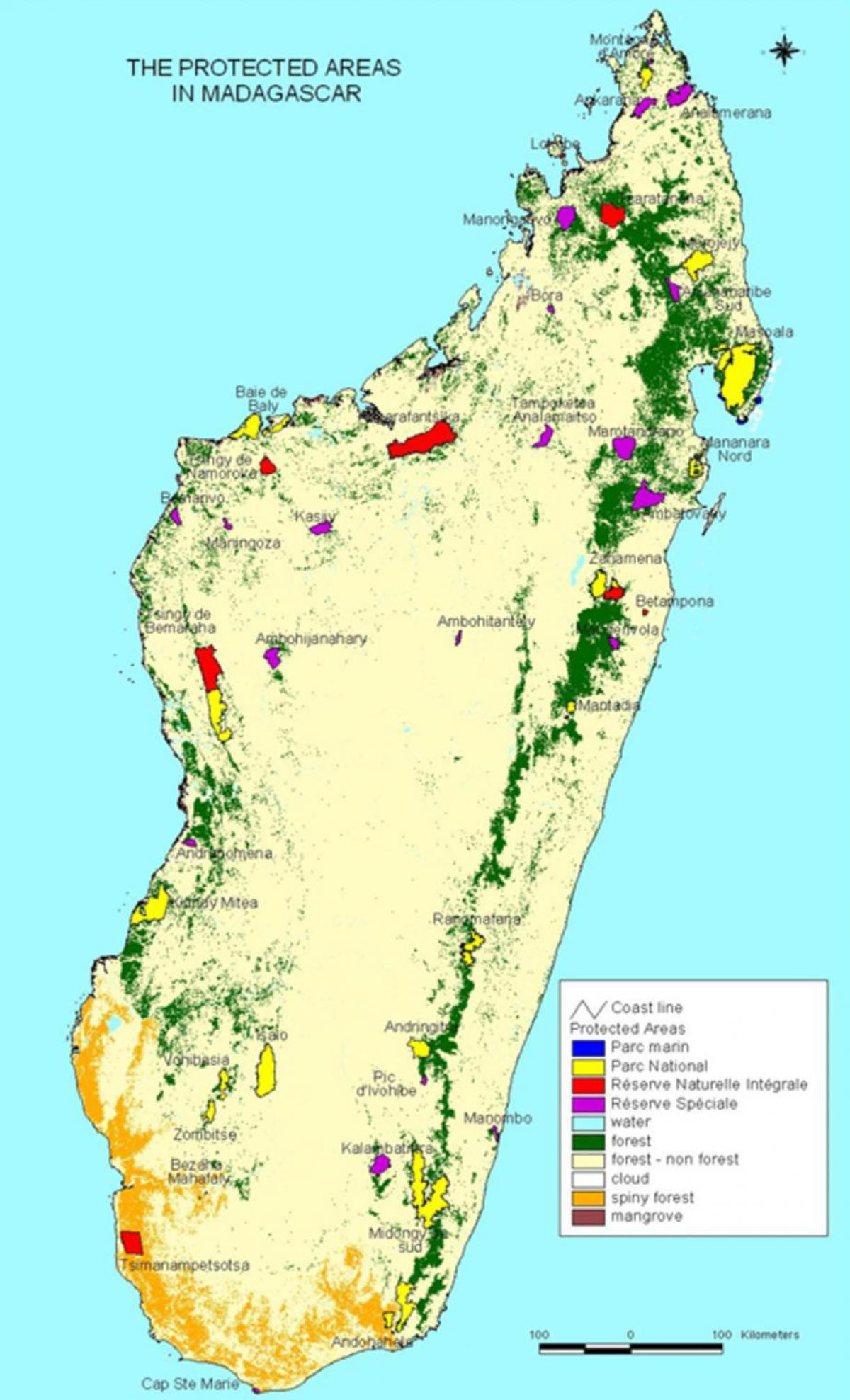map of Madagascar national parks