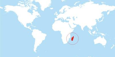 Map of Madagascar location on world