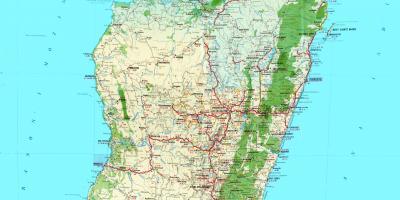Topographic Map Of Madagascar.Madagascar Topographic Map Map Of Madagascar Topographic Eastern