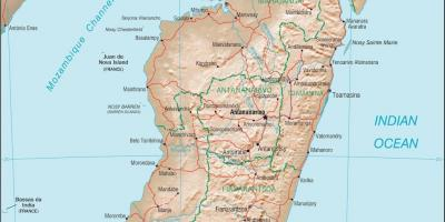 Madagascar country map